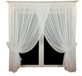 Firany Na Okna Balkonowe Ecru Białe Dareni